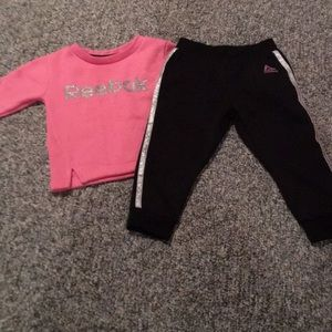 Adorable Reebok two-piece outfit